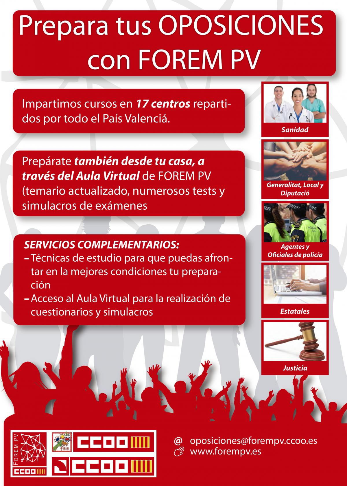 Cartell oferta oposicions FOREM PV