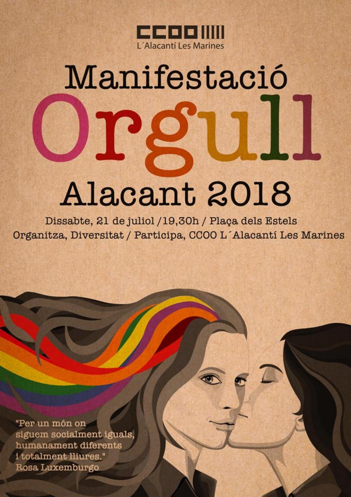 Cartell Orgull Alacant 2018